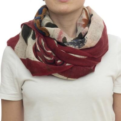 Sciarpa - Ortensia 7200  70 x 180  100% wool dipinda a mano