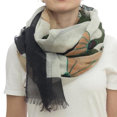 Sciarpa - Ortensia 7206   100 x 200  100% wool dipinta a mano