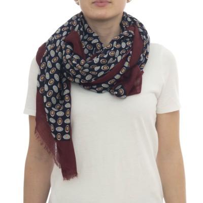 スカーフ-パープル7039 75 x 180 50%ウール50%モーダル