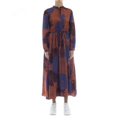 ドレス-106t19ロングプリントドレス