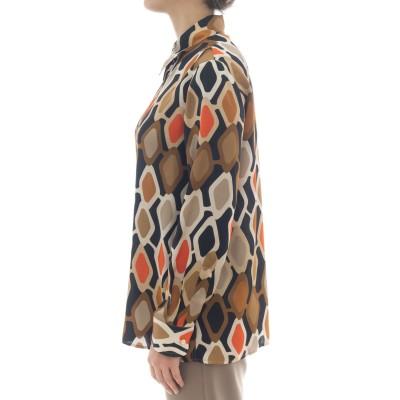 女性シャツ-J2023 / Rプリントシャツ