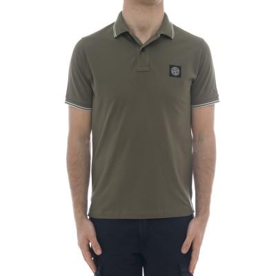 ポロシャツ-22s18スリムストレッチポロシャツ