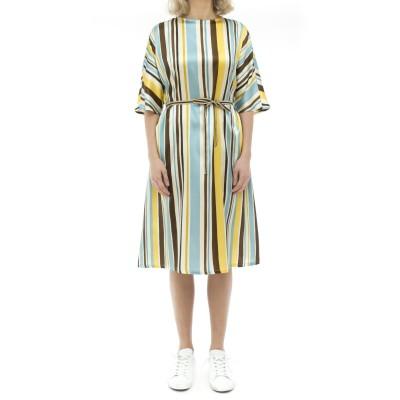 ドレス-133t00ストレッチシルクドレス