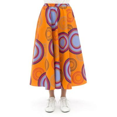 スカート-409t0kホイールプリントスカート