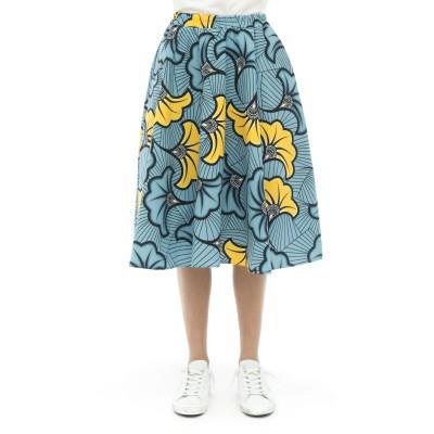 スカート-420t0kプリントスカート