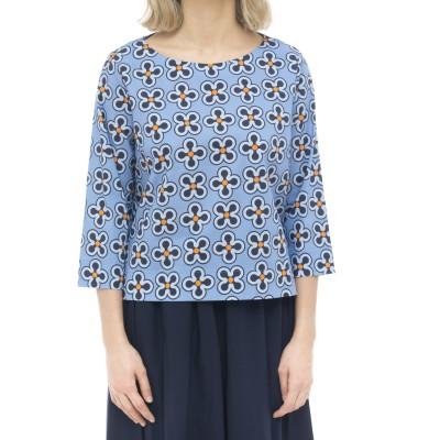 女性シャツ-620t29プリントTシャツ