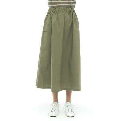 スカート-ポケット付き51165ポプリンスカート