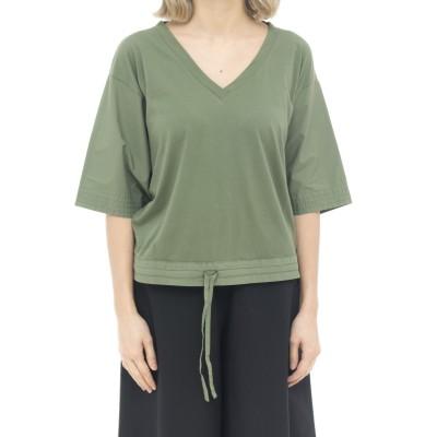 Tシャツの女性-52022ダブルファブリックTシャツ