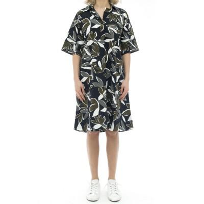 ドレス-キャロル85525コットンプリントドレス