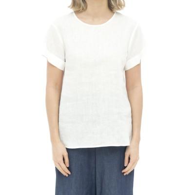 女性シャツ-メリッサ85112リネンmc