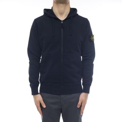 メンズスウェットシャツ-64251オープンジップパーカー