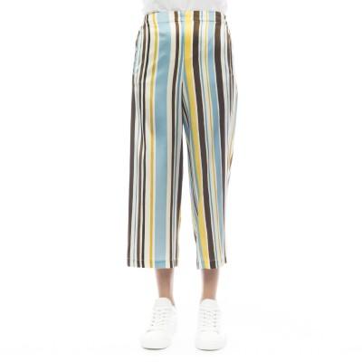 女性用ズボン-211t00パンタロエンシルクプリント