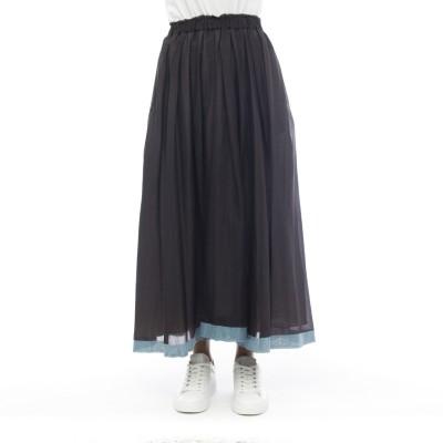 スカート-419t28モスリンスカート