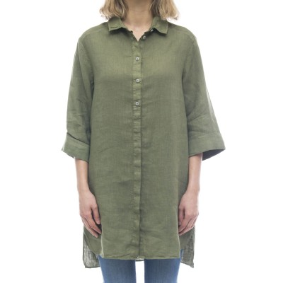 レディースシャツ-Evy6443リネンシャツ