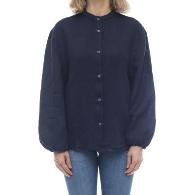 女性シャツ-Isa6449リネンシャツ