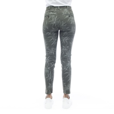 女性用ズボン-Melas6430パームプリント