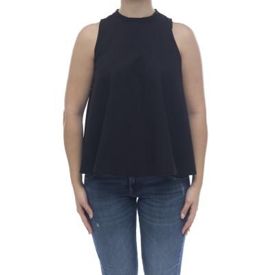 レディースシャツ-S31204フレアノースリーブシャツ