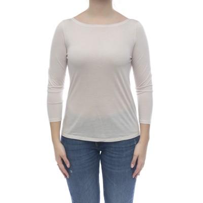 女性用Tシャツ-1191ミルクファイバーボートネックTシャツ