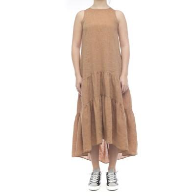 ドレス-4112リネンドレス