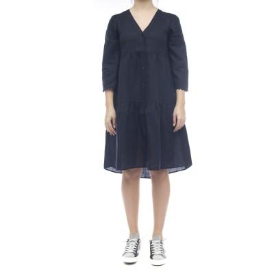 ドレス-4113ロングリネンドレス