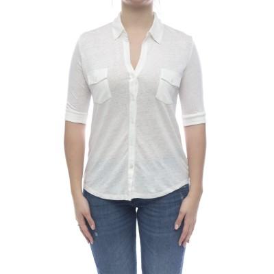 ポロシャツ-Fch014m011リネンポロシャツ