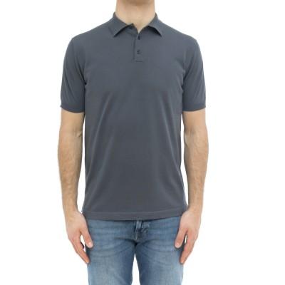 メンズ半袖ポロシャツ-2034/56コットンスレッドポ...