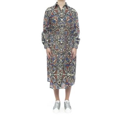 ドレス-ロングシャツドレス9404