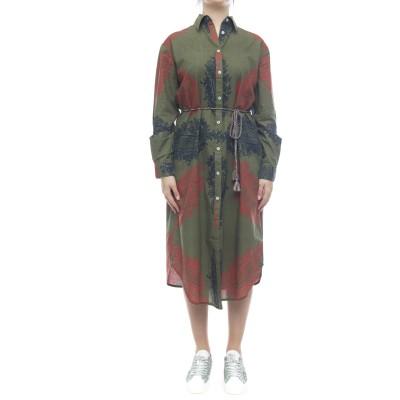 Kleid - Langes Hemdkleid 9401