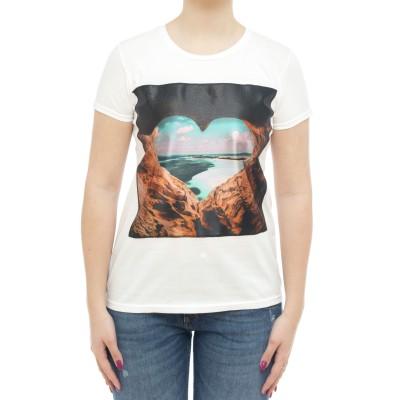 Damen T-Shirt - Icon sw Herz