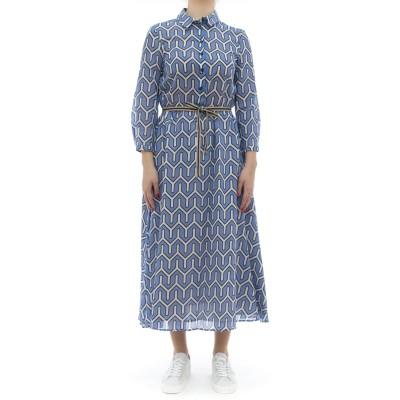 ドレス-111t56モスリンプリントドレス