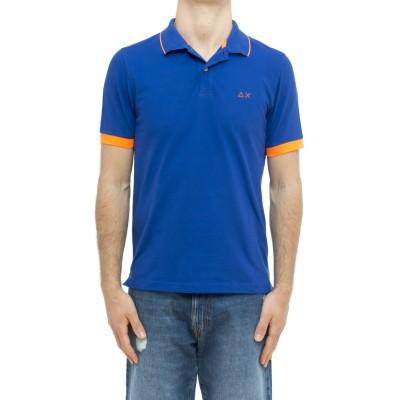 ポロ-fluoパイピング付きA31118ポロシャツ