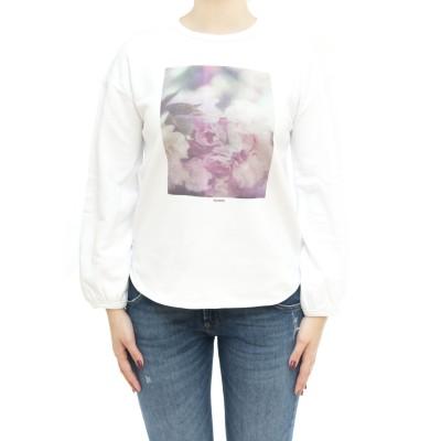 女性用スウェットシャツ-F31203プリントスウェットシャツ
