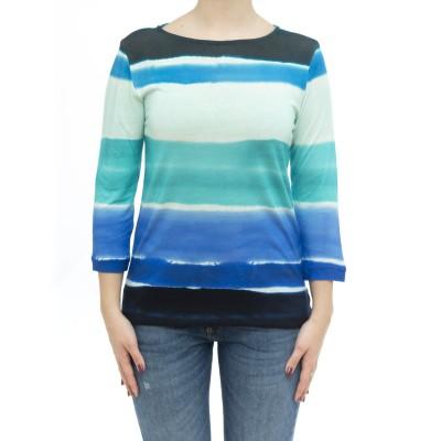 女性用Tシャツ-Fts111m246リネンTシャツ