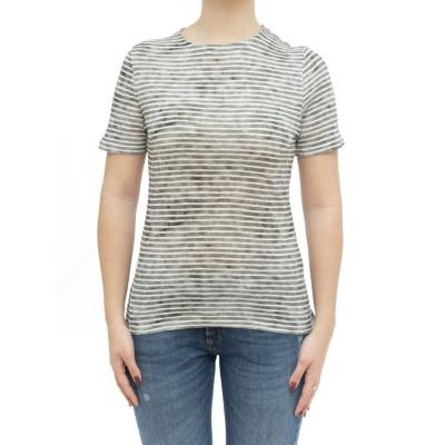 女性Tシャツ-Fts600m241ビスコースリネンスト...