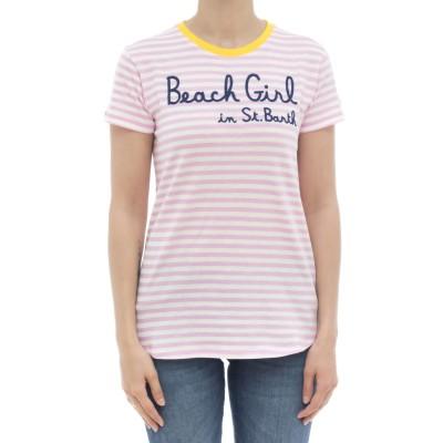 女性用Tシャツ-ダナストライプTシャツ