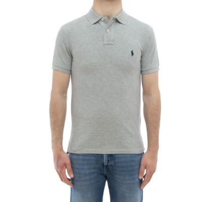ポロシャツ-7950802ボタンスリムフィットポロシャツ
