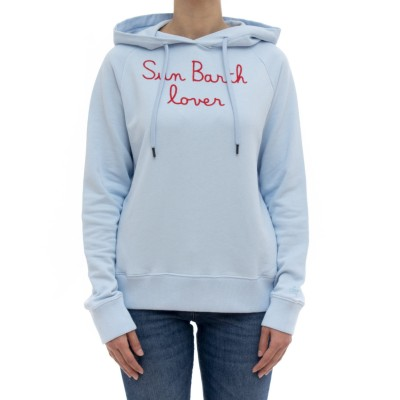 女性用スウェットシャツ-ギャルフード付きスウェットシャツ