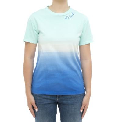 女性用Tシャツ-エミリーストライプ染料