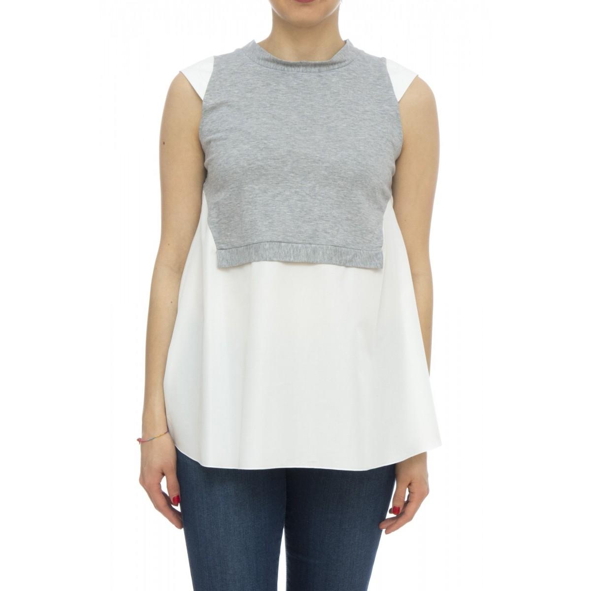 Camicia - Azzurra 25923 senza maniche jersey + cotone
