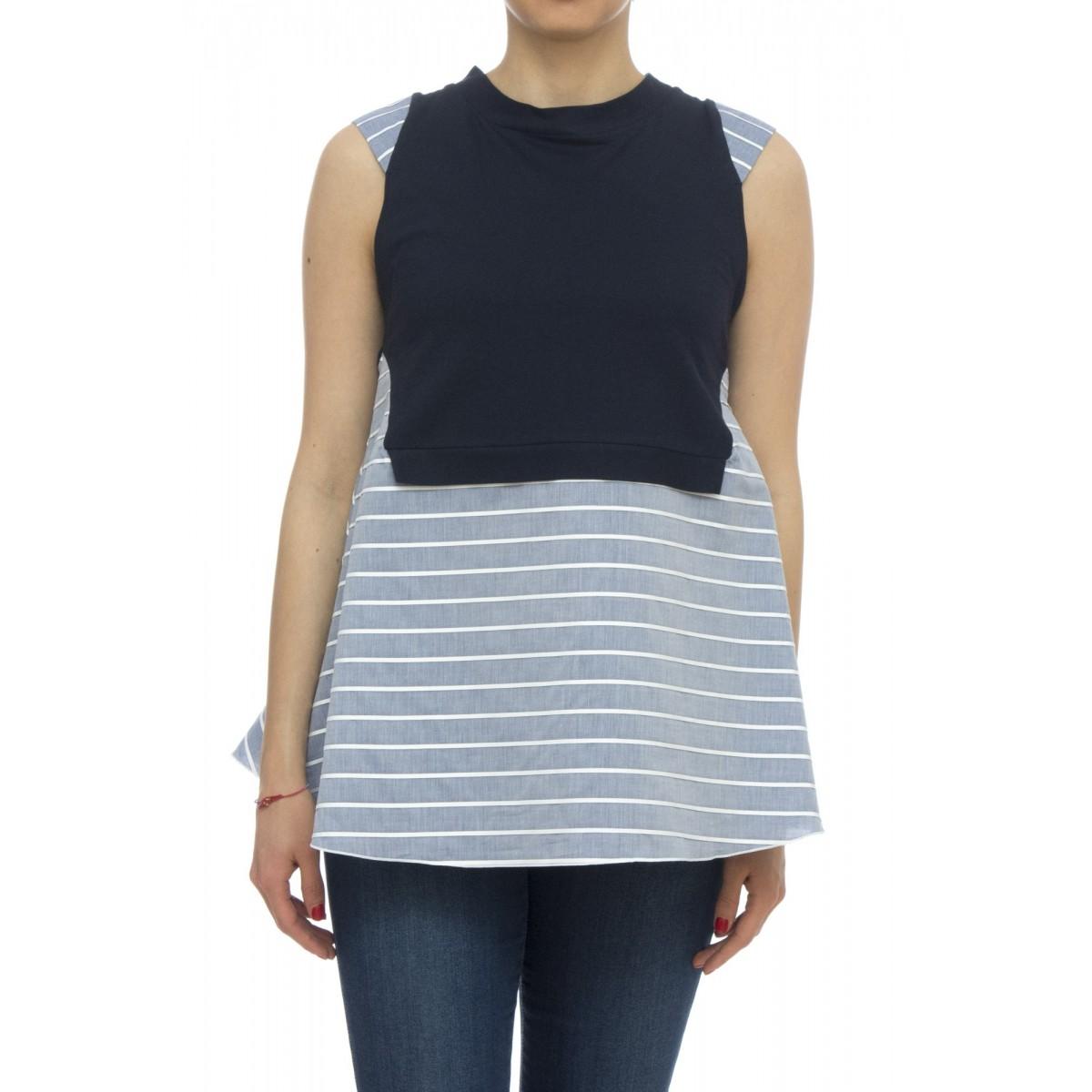Camicia - Azzurra 25924 senza maniche