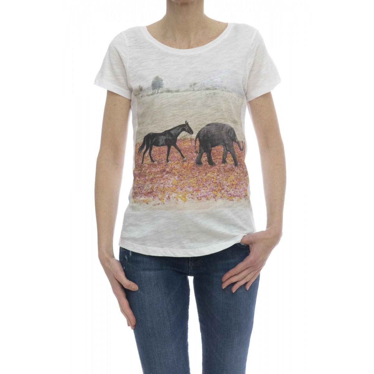 T-shirt - Savage t-shirt stampa bianco