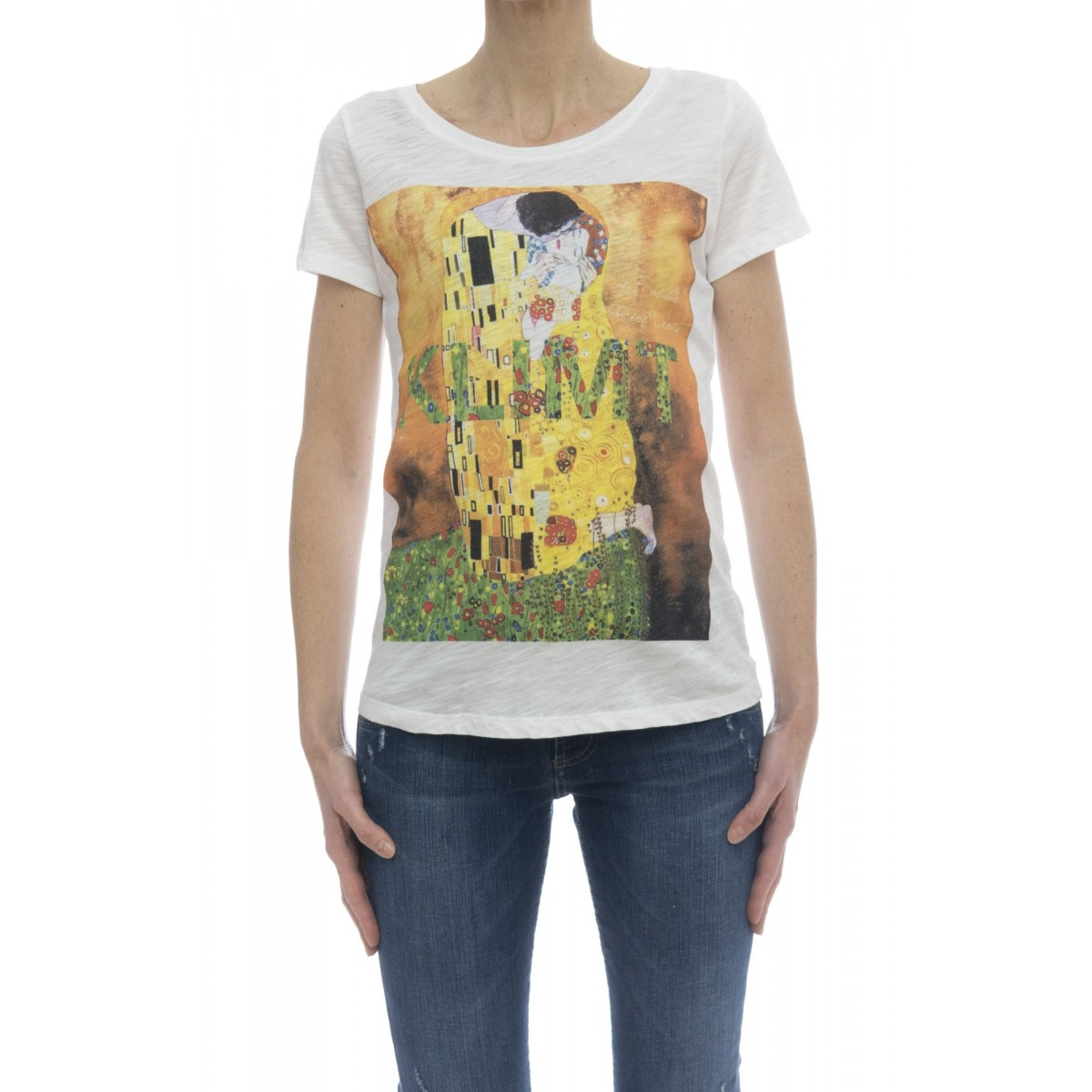T-shirt - Savage t-shirt stampa bianco