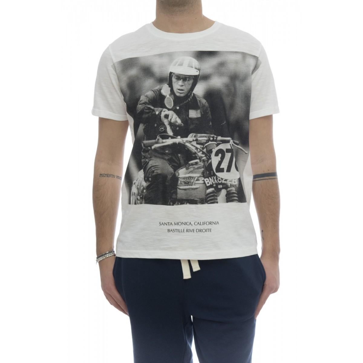 T-shirt - Slub man cotone fiammato