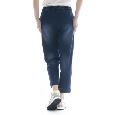 Pantalone donna - P18210 pantalone largo jeans
