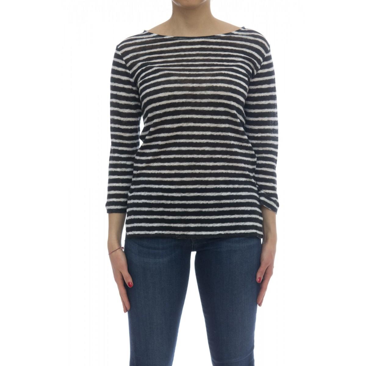 T-shirt - E29 07 t-shirt rigata 100% lino