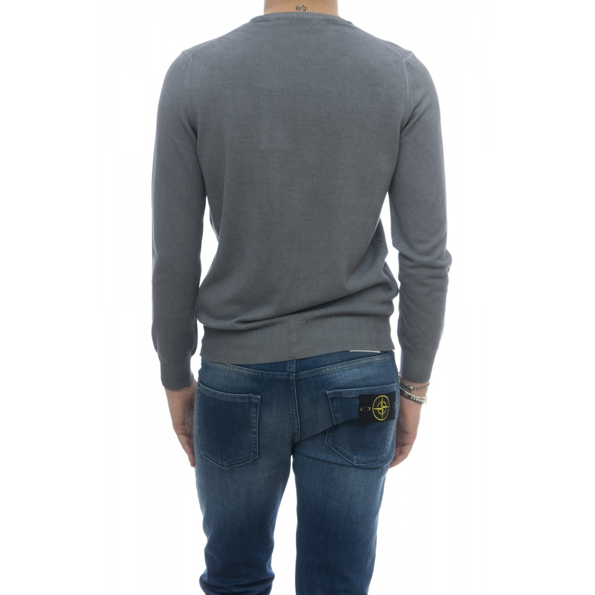 Maglia uomo - 5010/01 magklia giro lavata a freddo