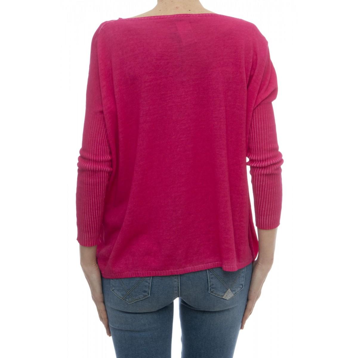 Maglieria - 1489380 maglia over cotone tinto freddo