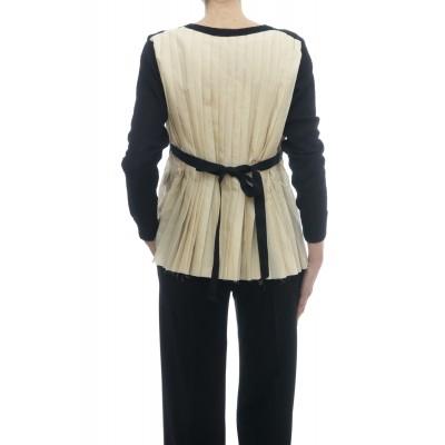 Maglieria - J1004 cardigan pieghe schiena