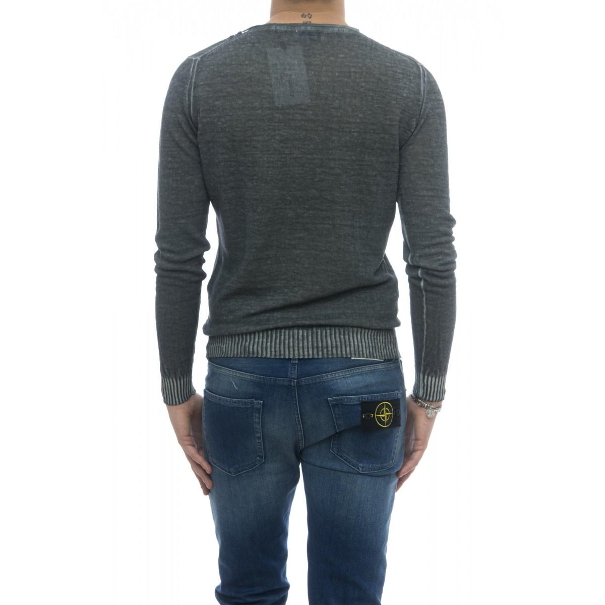 Maglia - Mu12fr girocollo lino cotone lavato freddo