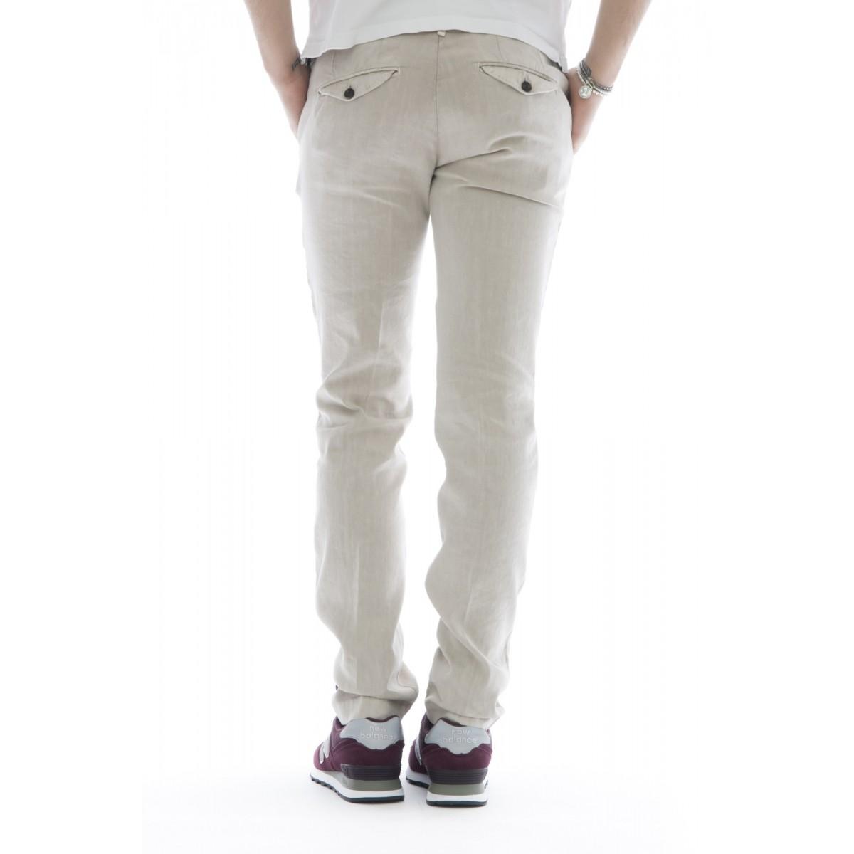 Pantaloni - 08l 79 cotone lino lavato